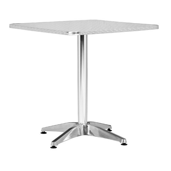 Home Roots Aluminum Square Cafe Table OCN-249153
