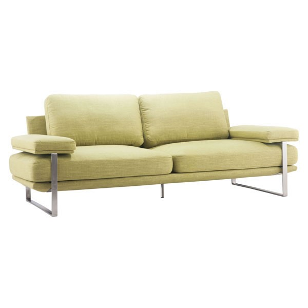Home Roots Plump Lime Fabric Padded Arm Sofa OCN-249331