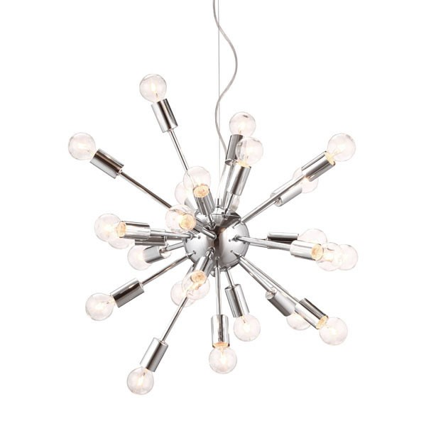 Home Roots Pulsar Chrome Ceiling Lamp OCN-249348
