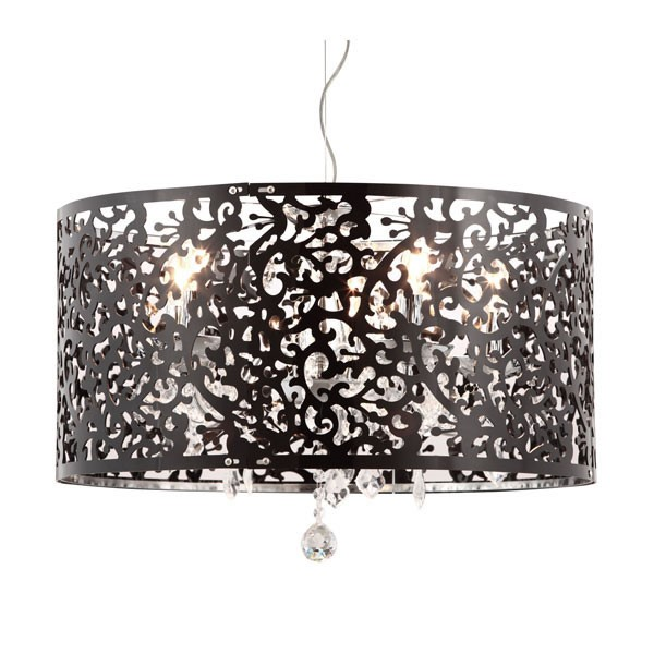 Home Roots Black Acrylic Ceiling Lamp OCN-249352