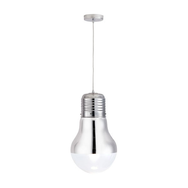 Home Roots Chrome Glass Gilese Ceiling Lamp OCN-249363