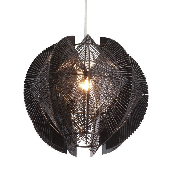 Home Roots Black Acrylic Single Ceiling Lamp OCN-249365