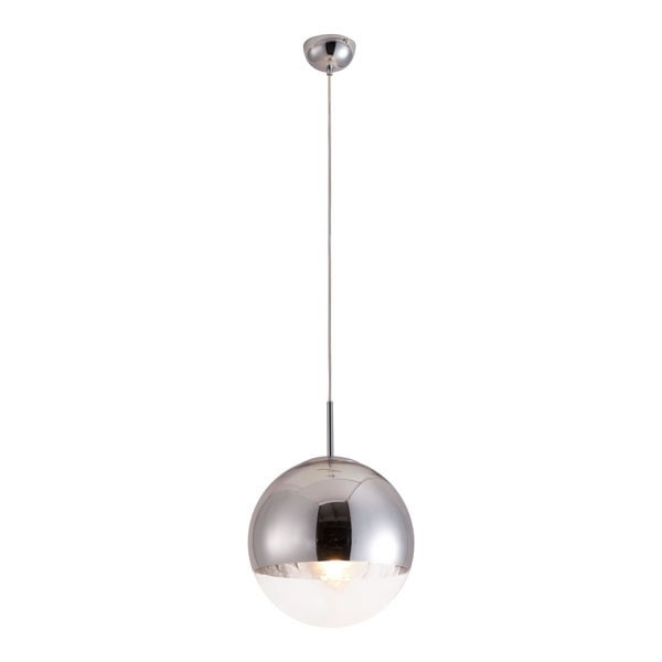 HomeRoots Chrome Kinetic Ceiling Lamp OCN-249369