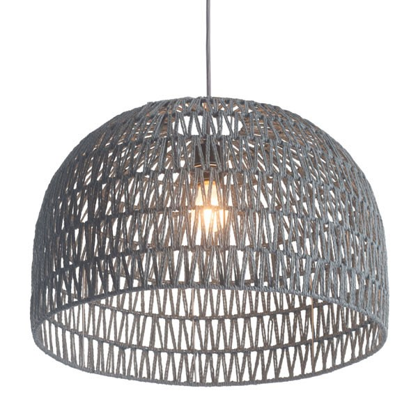 Home Roots Paradise Grey Polyester Metal Ceiling Lamp OCN-249387
