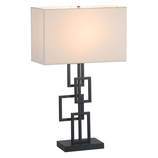 Home Roots Fabric Metal Table Lamp OCN-249392
