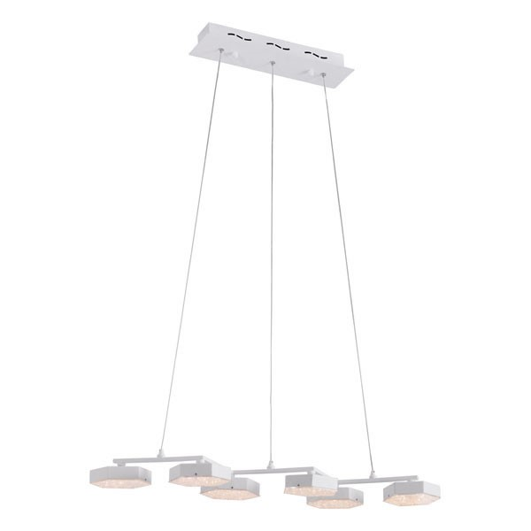 Home Roots Dunk White Acrylic Ceiling Lamp OCN-249415