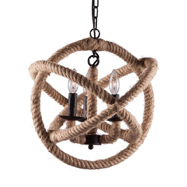 Home Roots Caledonite Twine Metal Ceiling Lamp OCN-249432