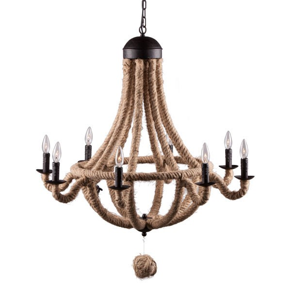 Home Roots Celestine Twine Metal Ceiling Lamp OCN-249433