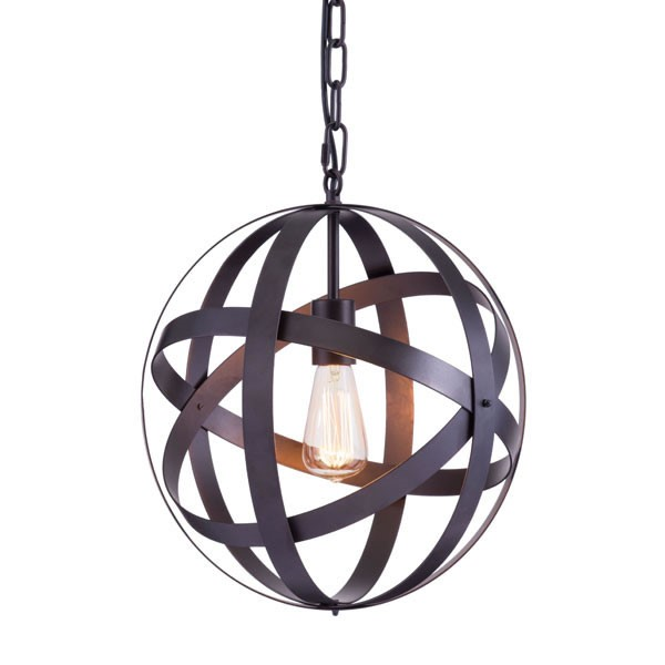 Home Roots Plymouth Rust Ceiling Lamp OCN-249440