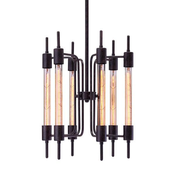 Home Roots Gisborne Distressed Black Ceiling Lamp OCN-249441