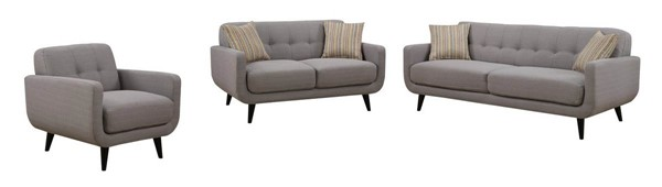 HomeRoots Gray 3pc Living Room Set - 249750 OCN-249750