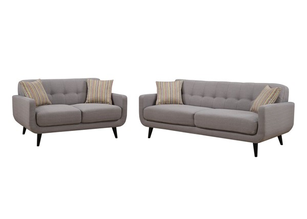 Home Roots Gray 2pc Living Room Set OCN-249751