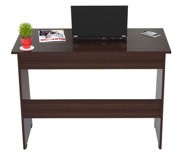 HomeRoots Espresso Wengue Solid Wood Writing Desk OCN-249788