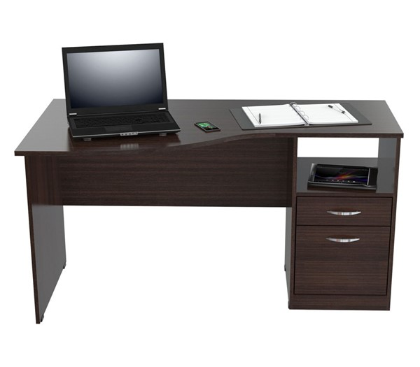 HomeRoots Espresso Curved Desk OCN-249791