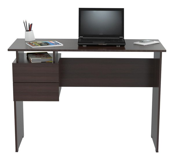 HomeRoots Inval Espresso Wengue 2 Drawers Writing Desk OCN-249798