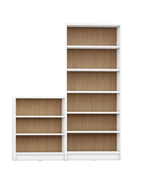 HomeRoots Greenwich 9 Wide Shelves 2pc Bookcases OCN-250605-BC-VAR