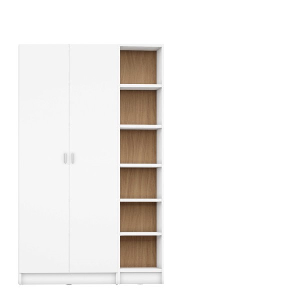 HomeRoots Greenwich 12 Wide And Narrow Shelves 2 Wide Doors 2pc Bookcases OCN-250609-BC-VAR