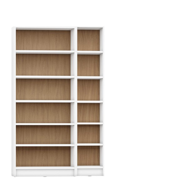 HomeRoots Greenwich 12 Wide And Narrow Shelves 2pc Bookcases OCN-250611-BC-VAR