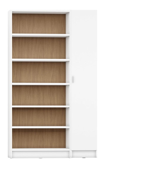 HomeRoots Greenwich 12 Wide And Narrow Shelves 2 Narrow Doors 2pc Bookcases OCN-250613-BC-VAR