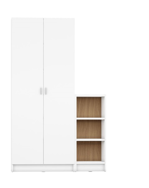 HomeRoots Greenwich 9 Wide And Narrow Shelves 2 Wide Doors 2pc Bookcases OCN-250617-BC-VAR