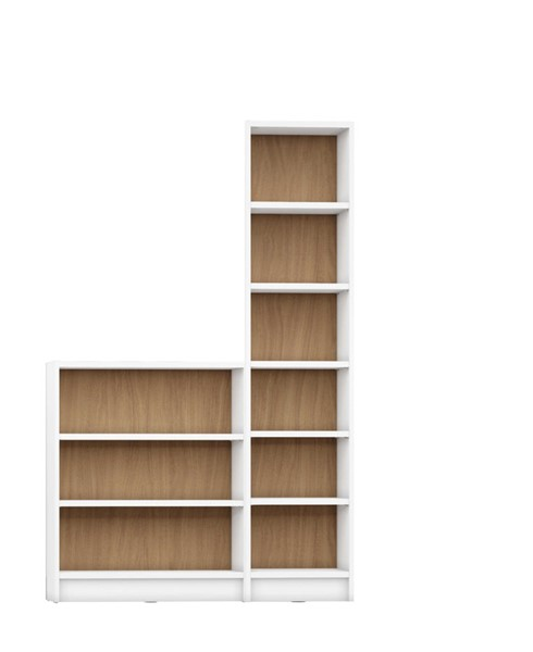 HomeRoots Greenwich MDP 2pc Bookcases OCN-250623-BC-VAR