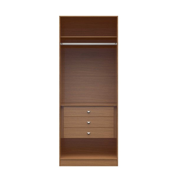 HomeRoots 2.0 35.43 Inch Wide Basic Wardrobe Closet 2 with 3 Drawers OCN-250645-BC-VAR