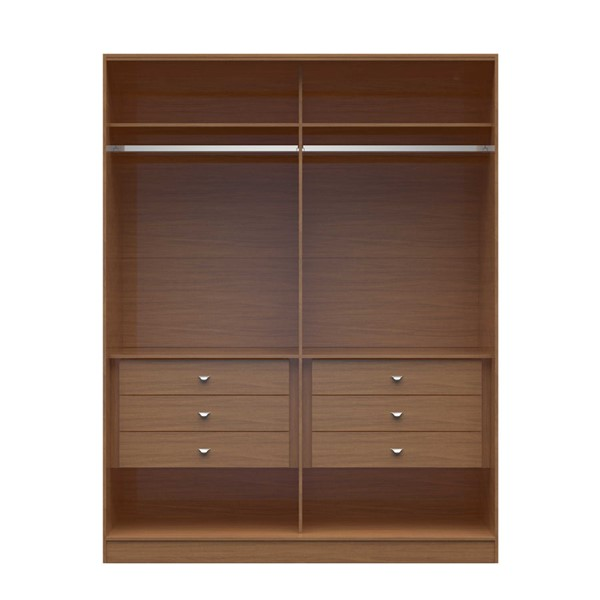 HomeRoots 2.0 70.07 Inch Wide Wardrobe with 6 Drawers OCN-250653-BC-VAR