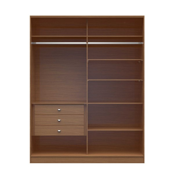 HomeRoots 2.0 70.07 Inch Wide Full Wardrobe with 3 Drawers OCN-250657-BC-VAR