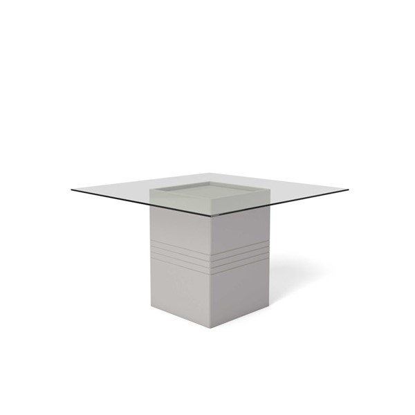 Ocean Tailer Perry Off White Tempered Glass Table OCN-250721