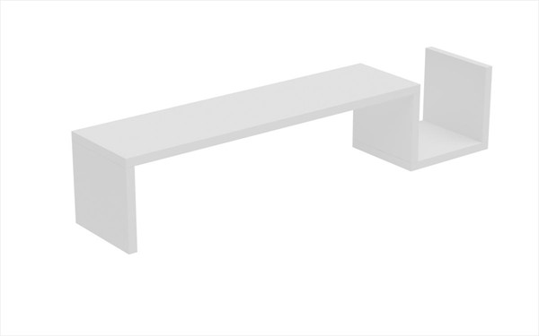 HomeRoots Zemmur S Shaped Floating Wall Mount Shelves OCN-25080-BC-VAR