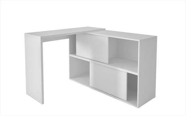 HomeRoots Bookcase Desk with 4 Shelves OCN-250826-OLD-VAR