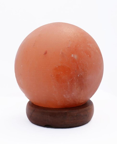 Home Roots Amber Crystal Sphere Shaped Himalayan Salt Lamp OCN-250865