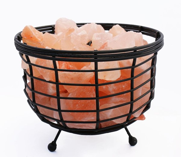 Home Roots Crystal Himalayan Natural Rocks Wired Basket Lamp 1.0 OCN-250873
