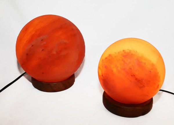 Home Roots Crystal Sphere Shaped 2pc Himalayan Salt Lamp OCN-250879