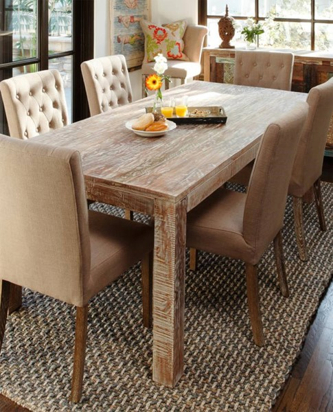HomeRoots Urban Port Natural Wood Chic Dining Table OCN-251112
