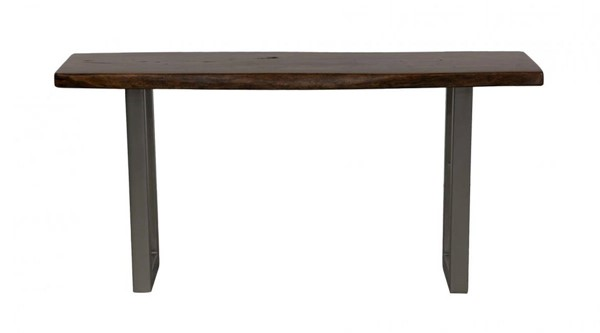 HomeRoots Urban Port Natural Brown Grey Wood Console Table OCN-251121