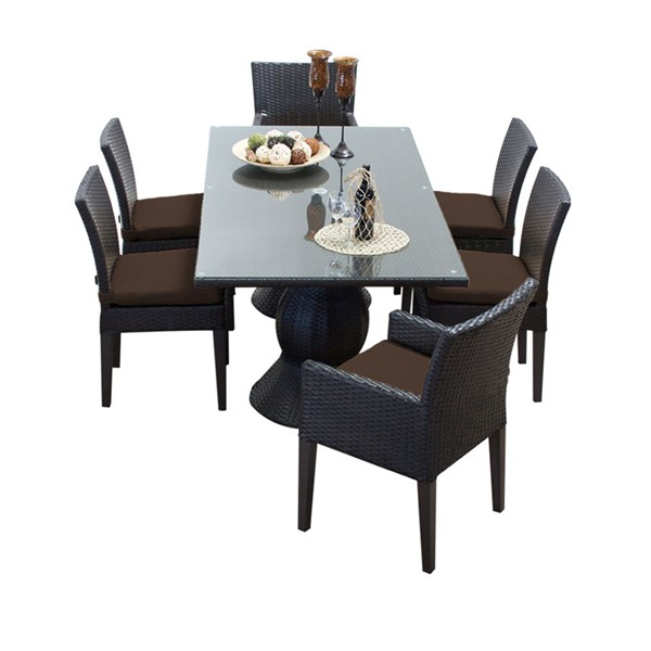 HomeRoots Napa Rectangular Patio Outdoor Dining Sets with Armless Chairs OCN-257432-OT-DS-VAR