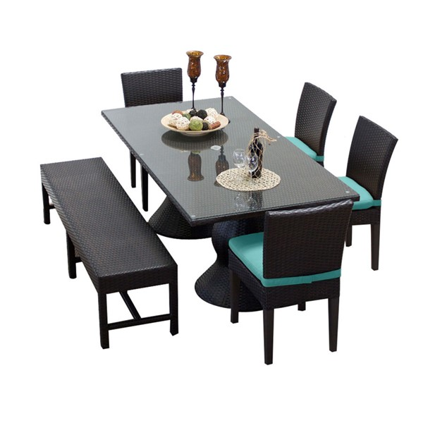 HomeRoots Napa Patio Outdoor Dining Sets with 4 Chairs OCN-257437-OT-DS-VAR