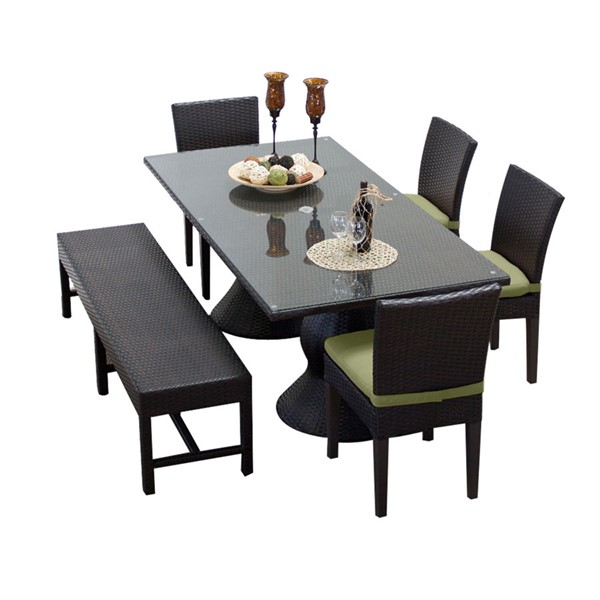 HomeRoots Napa Patio Outdoor Dining Sets with 4 Chairs and 1 Bench OCN-257439-OT-DS-VAR