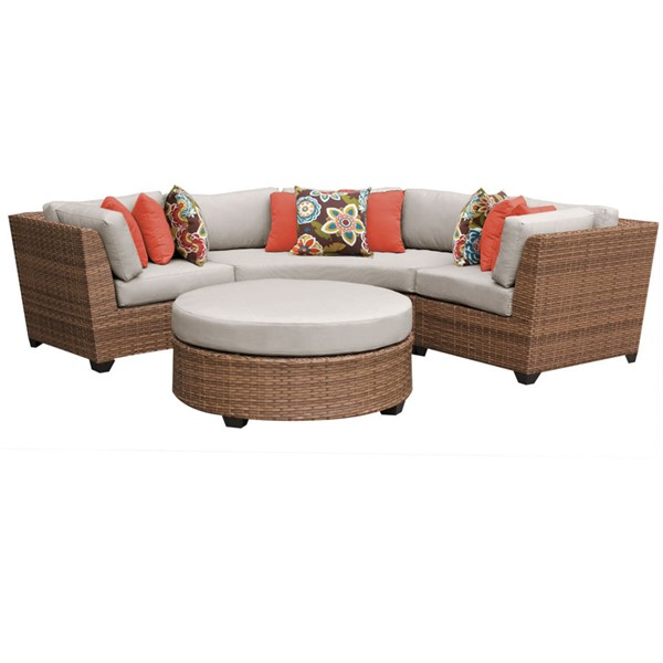 Home Roots Laguna Beige Outdoor Wicker Patio 4pc Furniture Set (04A) OCN-257583