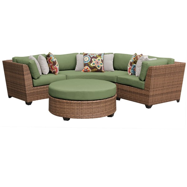 HomeRoots Laguna Cilantro Outdoor Wicker Patio 4pc Furniture Set (04A) OCN-257584