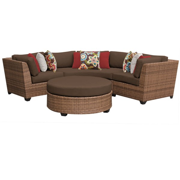 Home Roots Laguna Cocoa Outdoor Wicker Patio 4pc Furniture Set (04A) OCN-257585