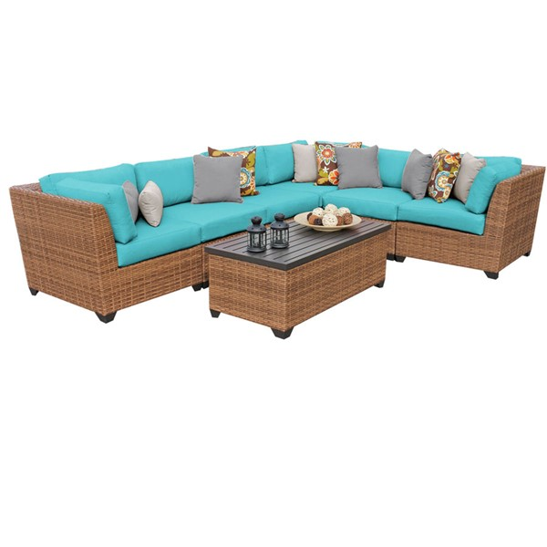 Home Roots Laguna Outdoor Wicker Modern Patio 7pc Furniture Set (07B) OCN-257645-OT-SEC-VAR