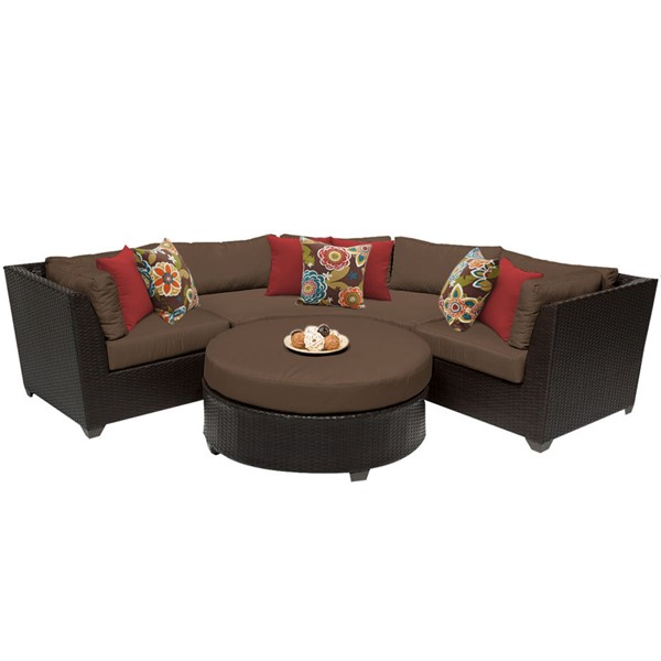 Home Roots Cocoa Outdoor Wicker Patio 4pc Furniture Set (04A) OCN-257848