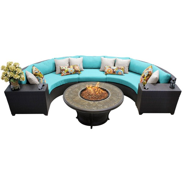 HomeRoots Espresso Wicker 6pc Outdoor Sectionals (06A) OCN-25786-OUT-SEC-VAR