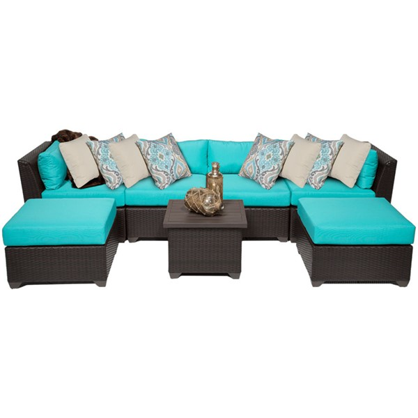 Home Roots Aruba Outdoor Wicker Patio 7pc Furniture Set (07A) OCN-257894