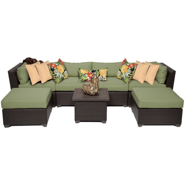 Home Roots Cilantro Outdoor Wicker Patio 7pc Furniture Set (07A) OCN-257896