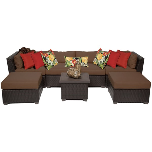 HomeRoots Cocoa Outdoor Wicker Patio 7pc Furniture Set (07A) OCN-257897