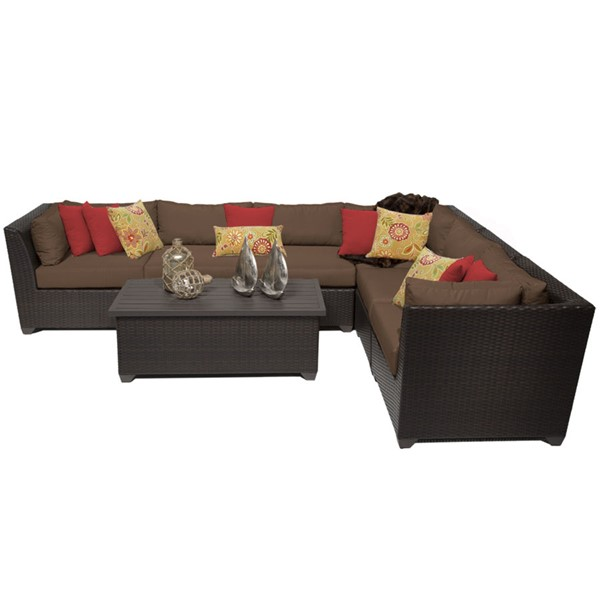 Home Roots Cocoa Outdoor Wicker Patio 7pc Furniture Set (07B) OCN-257904