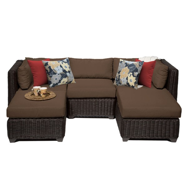 Home Roots Cocoa Outdoor Wicker Patio 5pc Furniture Set (05A) OCN-258254